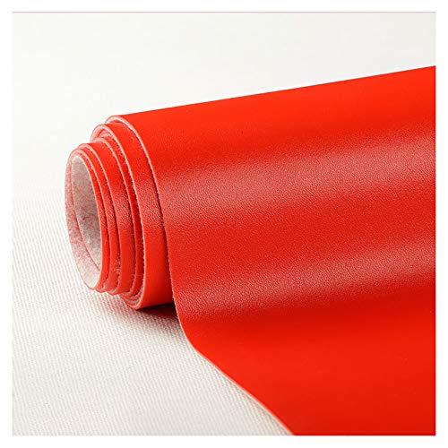 PENGDDP Cuero Artificial,Utilizado para Decorar y Proteger,Remodelar Muebles Sofá,a Prueba de Agua de Mohocuero para Manualidades Suave (Rojo)-Rojo 138x400cm