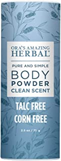 Body Powder for Men and Women, Dusting Powder, Foot Powder, Talc Free, Cornstarch Free, Clean Scent with Essential oils of...