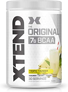XTEND Original BCAA Powder Tropic Thunder | Sugar Free Post Workout Muscle Recovery Drink with Amino Acids | 7g BCAAs for ...