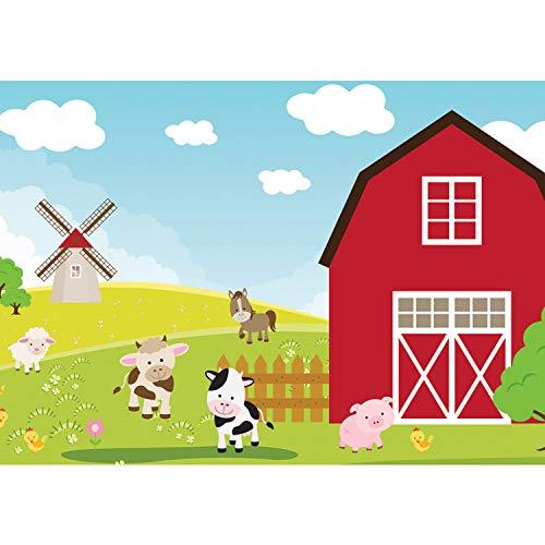 Vlies Fototapete PREMIUM PLUS Wand Foto Tapete Wand Bild Vliestapete - Kindertapete Kinder Bauernhof Tiere - no. 2668, Größe:312x219cm Vlies