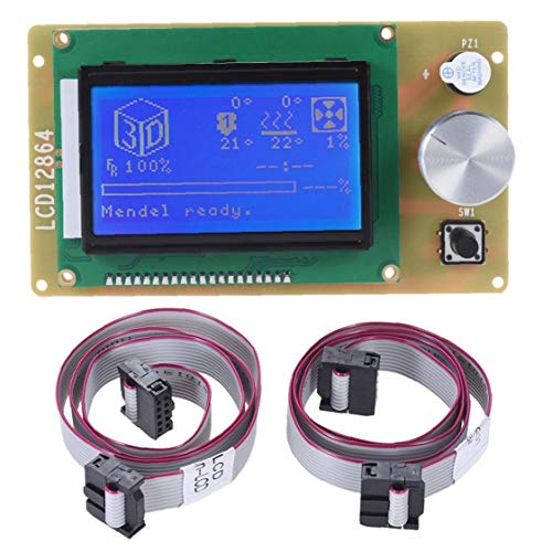NaiCasy LCD Screen Controller Screen Display Hat LCD Controller Board Panel with Cable for 3D Printer Kit Accessory