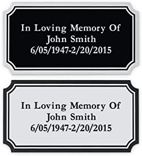 SmartChoice Custom Personalized Engraved Name Plate Custom Engraving with Adhesive Backing