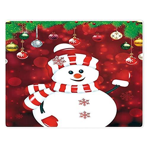Mantas súper suaves y cálidas para sofá cama, bola decorativa de muñeco de nieve roja de 152 x 203 cm, ligeras para adultos y niños