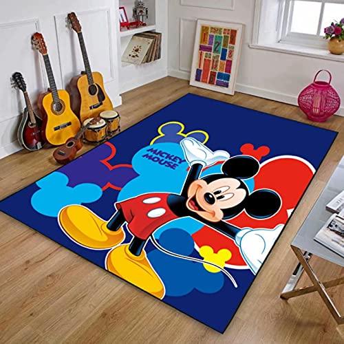 Alfombra De Área De Alfombra Alfombras De Piso Impresas Cute Cartoon Mickey Mouse Alfombra De Piso Suave Antideslizante Alfombras De Decoración del Hogar (A681) 140X200Cm