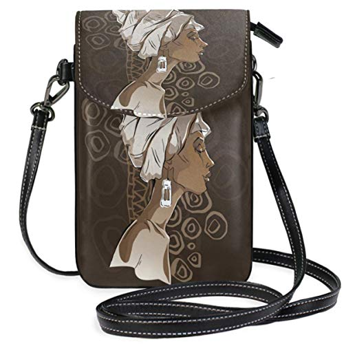 XCNGG bolso del teléfono Sketch Of Afican Woman Cell Phone Purse Wallet for Women Girl Small Crossbody Purse Bags