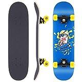 WeSkate Skateboard Complete Board 79x20cm Tablero de Madera