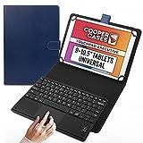 Cooper Touchpad Executive [Teclado y Mouse Multi-táctil] para Tablets de 9-10.5'   iPadOS, Android y Windows   Conexión Bluetooth, Funda de Cuero