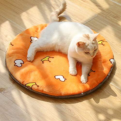 LYHY Selbstheizendes Katzenpad für Haustiere Thermo-Katzenmatte für Haustiere im Freien und drinnen für Welpen und Katzen bei kaltem Wetter-A-60 * 60cm