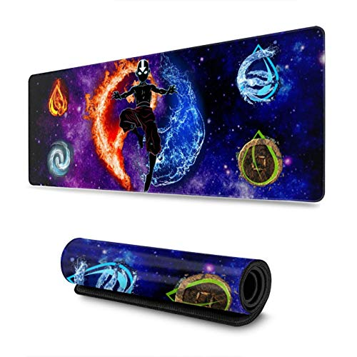 Avatar The Last Airbender Custom Gaming Mouse Pad Anime Mouse Mat Desk Pad 11.8x31.4x0.12inch for Game Players, Office, Study