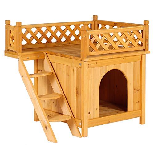 YI-LIGHT Blockhaus Im Freien, Waschbar Hundehütte Wasserdicht Haustier Katzennest Hundehütte Bett Schuppen Käfig Innen-