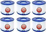 KCTM Filtro de piscina, bomba de filtro de spa para bomba de filtro de spa Bestway, cartucho de repuesto tipo VI, para Lay-Z-Spa para Coleman SaluSpa 90352E filtro de piscina (6 unidades)