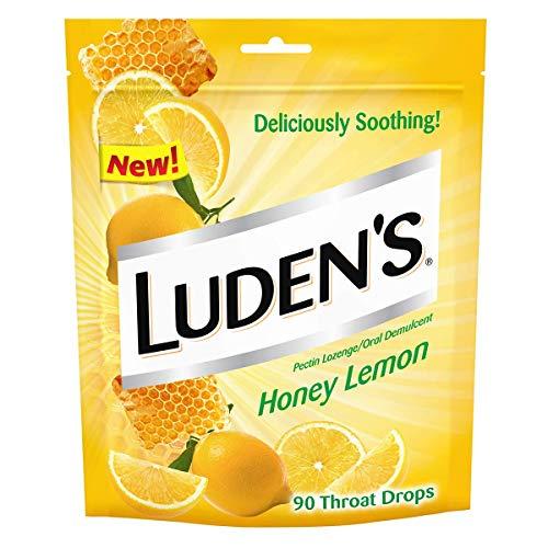 Luden's Cough Drops, Honey Lemon, 90 Drops