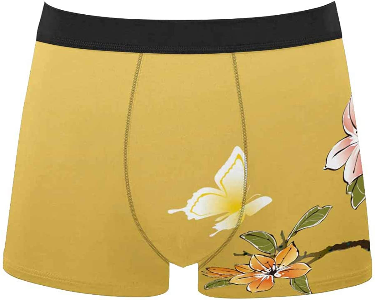 InterestPrint All Over Print Breathable Brief Underwear for Mens Juniors Cherry Blossoms
