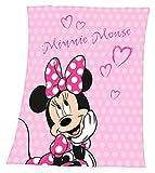 Disney`s Minnie Mouse Fleece Decke Kuscheldecke 130 x 160