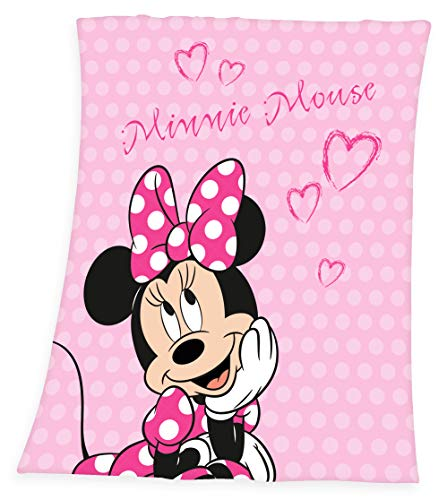 Disney`s Minnie Mouse Fleece Decke Kuscheldecke 130 x 160
