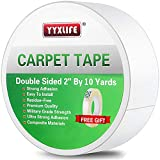 YYXLIFE Double Sided Carpet Tape for Area Rugs Carpet Adhesive Rug Gripper Removable Multi-Purpose...