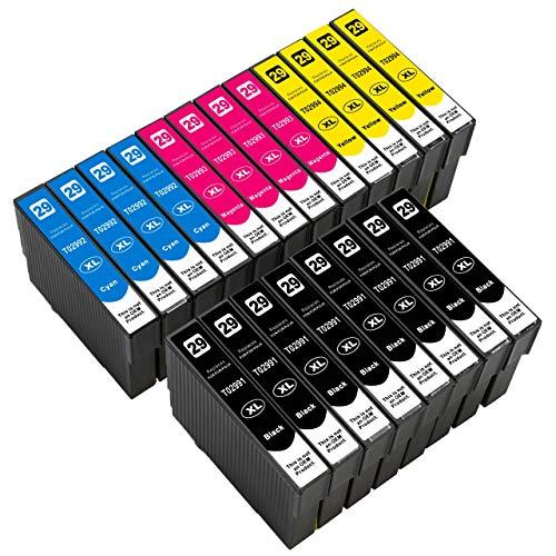 ESMOnline kompatible Druckerpatronen als Ersatz für Epson 029/029XL (Schwarz, Cyan, Magenta, Gelb; 20er Set) für Expression Home XP-455 452 445 442 435 432 355 352 345 342 335 332 257 255 247 245 235
