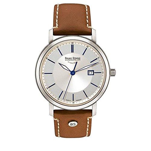 Bruno Söhnle Herren Analog Quarz Uhr mit Leder Armband 17-13138-243