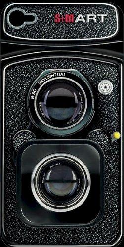 S Mart aggiornamento/Fotocamera Designs-Cover Posteriore per Apple iPhone 4/4S, Colore: Nero