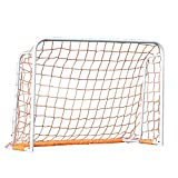 ZJM Ice Hockey Lacrosse Goal, Kids Outdoor Soccer Goals for Backyard Lawn or Field, Ground Weather Resistant White (Size : S)
