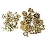 KIMI-HOSI 100g Steampunk Engranajes Relojes Surtidos Metal Cogs Colgante Manualidades...