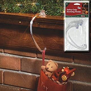 Adams Christmas 5730-06-1240 Safety Grip Stocking Hook, 2-Pack
