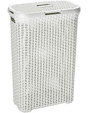 Curver 00709-885-00 Kosz Na Pranie, Plastic, Kremowy 40 L, 44.7 X 26.5 X 61.2 Cm