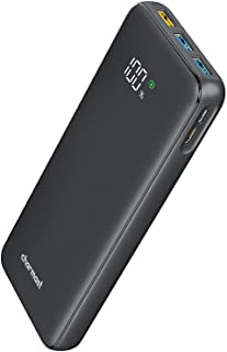 Charmast Power Bank PD 23800mAh USB C 18W Power Delivery Portable Charger LED Display Battery Pack with 2 Input and 4 Outp...