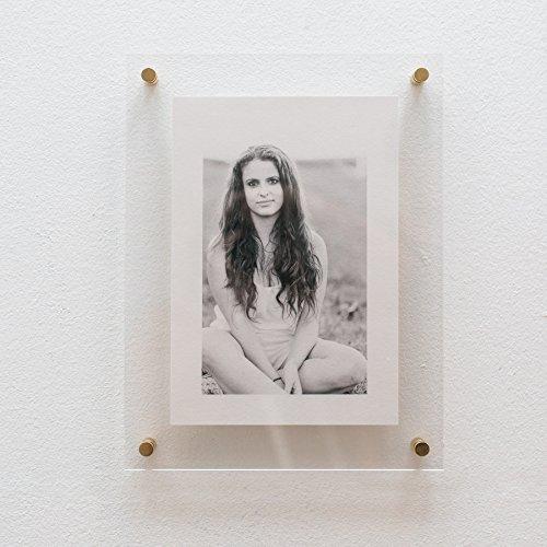 Schweberahmen Acryl | Bilderrahmen | Float Frame | Plexi | Abstandhalter Messing 28 x 38 cm