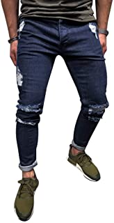 Mens Skinny Jeans Pant Casual Trousers Denim Stretch Pencil Pants Plus Size