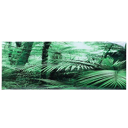 Pangding Aquarium Achtergrond, 3D Effect Green Forest Poster PVC Lijm Decor Sticker Cling Stickers