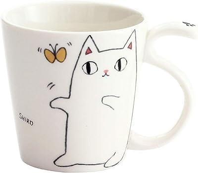 猫3兄弟 しっぽマグカップ shiro 13010