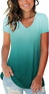 SAMPEEL Womens Fall Basic Long Sleeve V Neck T-Shirts Casual Tops