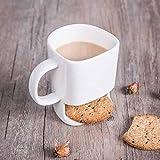 xingfuankang Tazza per Biscotti Tazza da tè al Latte in Ceramica Tazza Divertente per Il Viso 3D Tazza da caffè Creativa con Porta Biscotti novità Regalo di Compleanno-1