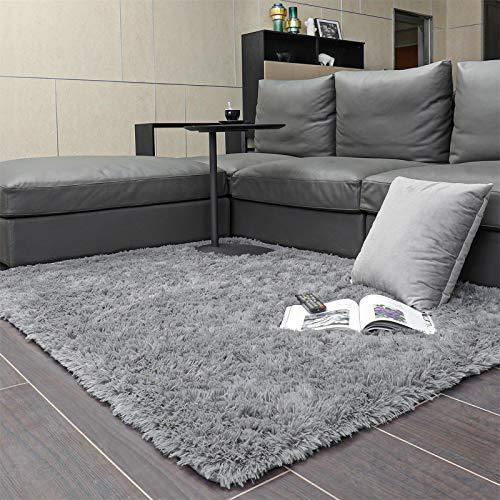 Ophanie 可机洗客厅地毯,4x5.3 英尺,灰色