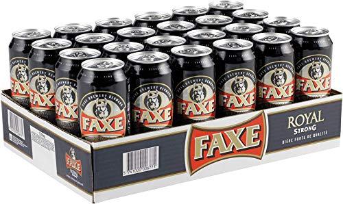 FAXE 10% Dänisches Starkbier 24 x 0,5 l Dosenbier, Starkes Lagerbier