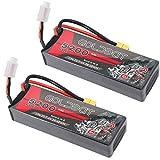 GOLDBAT 7.4V 60C Batería RC 5200mAh 2S RC Lipo Batería con Conector XT60 para RC Car Evader RC Evader Bx Coche Camión Camión Truggy Camión Barco 2 Paquetes