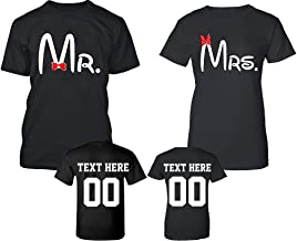Old Mr and Mrs Pattern Customized Text Name Design Couple Hoodie, Crewneck Sweatshirt, Tshirt, Tank top