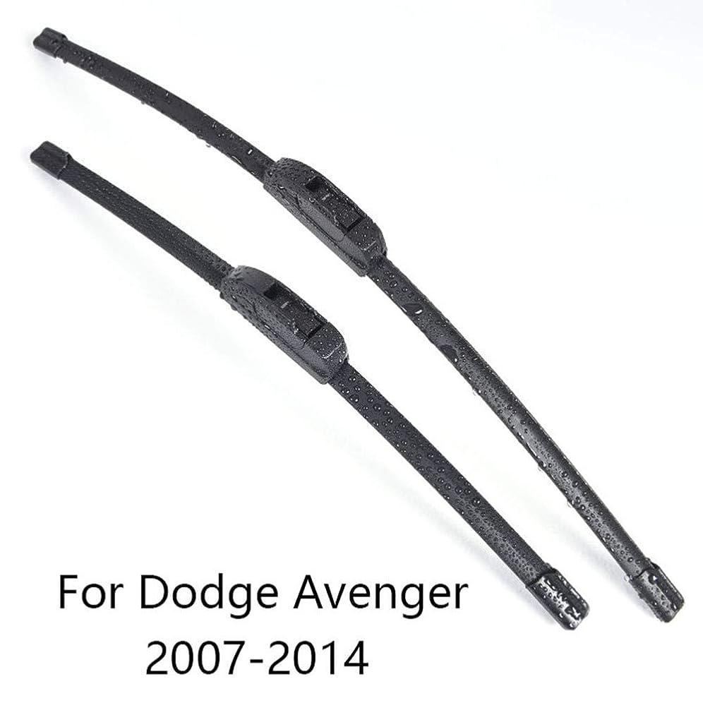 踊り子ワイプ実行MIOAHD 車のフロントガラスワイパーゴム車のフロントガラスワイパーブレード、ダッジアベンジャー2007年2008年2009年2010年2011年2012年2013年2014年の適合