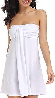 AS ROSE RICH Women's Swimsuit Cover Up Summer Beach Wear Mini Dress