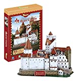 Castillo BRAN del Conde Drácula - Rumanía. Puzzle 3D Papel. Arquitectura del Mundo. Exclusivo. Educacional y Decorativo