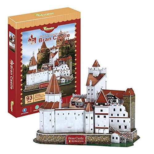 BRAN Schloss des Grafen Dracula - Rumänien. 3D-Papier-Puzzle. Architektur der Welt. Exklusiv. Pädagogisch und dekorativ