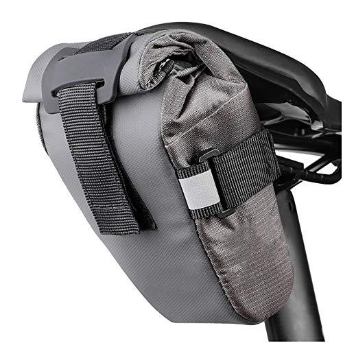 Mioyoow - Bolsa de sillín de bicicleta reflectante impermeable de 1,5 l