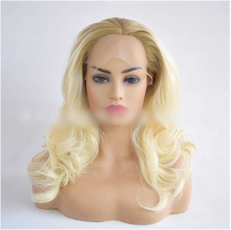 KERVINFENDRIYUN YY4 Langes lockiges Abendkleid der Frauen Perücke Blonde Cosplay Damen Perücke (color   Photo color)