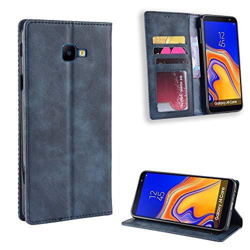 LODROC Coque Galaxy J4+ (J4Plus) Coque,Housse en Cuir Premium Flip Case Portefeuille Etui avec Stand Support et Carte Slot pour Samsung Galaxy J4 Plus/J415FN - LOBYU0100204 Bleu