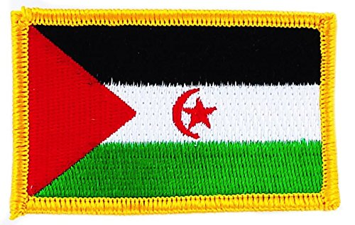 Patch Aufnäher bestickt Flagge Westsahara Flag Aufbügler Abzeichen Wappen