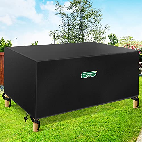 Sotor Juego de Funda para Muebles, Fundas para Muebles de Jardin Impermeables, Funda Mesa Jardin, 420D Oxford Resistente Anti - UV Funda Muebles Patio Terraza al Aire Libre 242x162x100CM