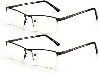 2-Pack Blue Light Blocking Reading Glasses for Men and Women,1.5 Computer Glass