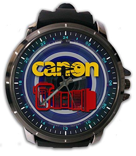 Best Lense Canon Camera Logo Custom Metal Sport Rubber Band Big Face