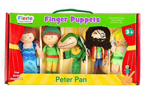 Fiesta Crafts T-2377 - vingerpoppenset Peter Pan, 5 stuks